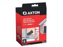 JOINT DE PORTES ET FENETRES AXTON 1/4MM PVC NOIR 15M