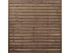 PANNEAU DE CLOTURE BOIS 180X180CM EP 35MM DROIT MARRON NOA