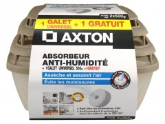 ABSORBEUR HUMIDITE MEDIUM AXTON+2 GALET PERCE 500G NEUTRE DONT 1 GRAT