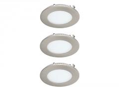 SPOT A ENCASTRER LED FIXE ROND EXTRAPLAT XS 3.8W 300LM 3000K ACIER X3