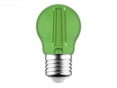 AMPOULE LED SPHERIQUE E27 4,5W 200 LUMENS VERT LEXMAN