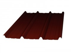 PLAQUE TOITURE NERVUREE ACIER GALVANISE ROUGE 300X105 EP0.63MM
