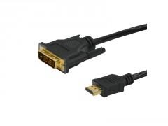 CORDON HDMI / DVI MALE / MALE 1.5M