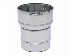RACCORD POELE-TUBAGE FLEXIBLE INOX DIAMETRE 125 155/161