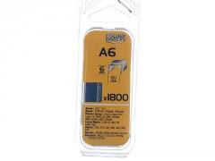 AGRAFE A6MM BLISTER 1800