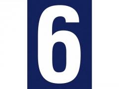 NUMERO RUE 6 ADHESIF