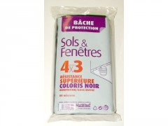 BACHE NOIRE 4X3M EP 80MIC