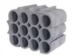 CASIER 12 BOUTEILLE POLYSTYRENE GRIS