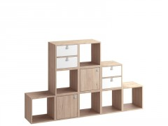 ETAGERE 2 CASES SPACEO KUB CHENE